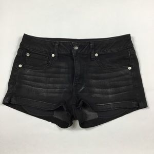 American Eagle Black Shortie Shorts Womens 8